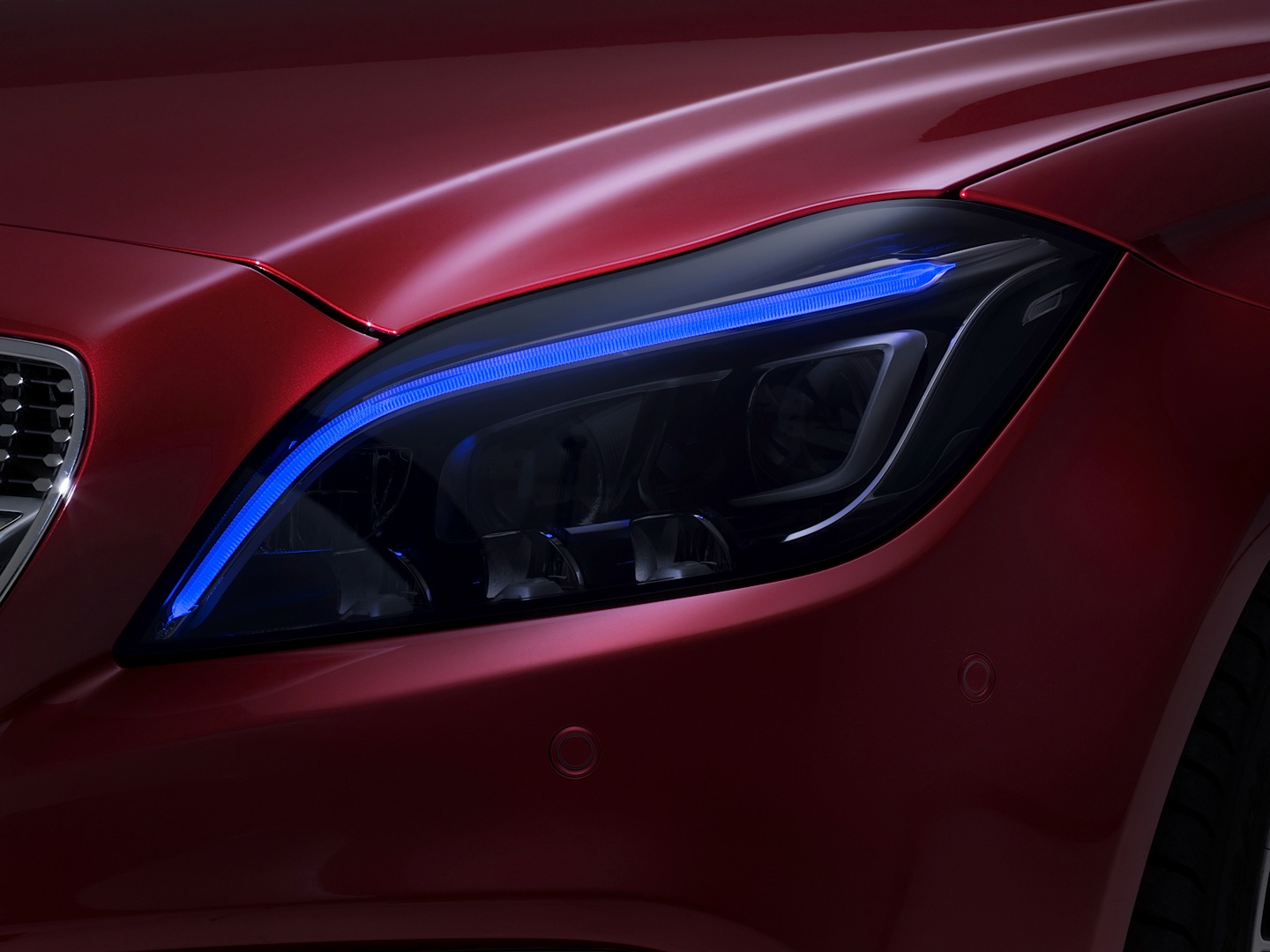 Multibeam LED Lights on CLS (C218) Facelift Previewed