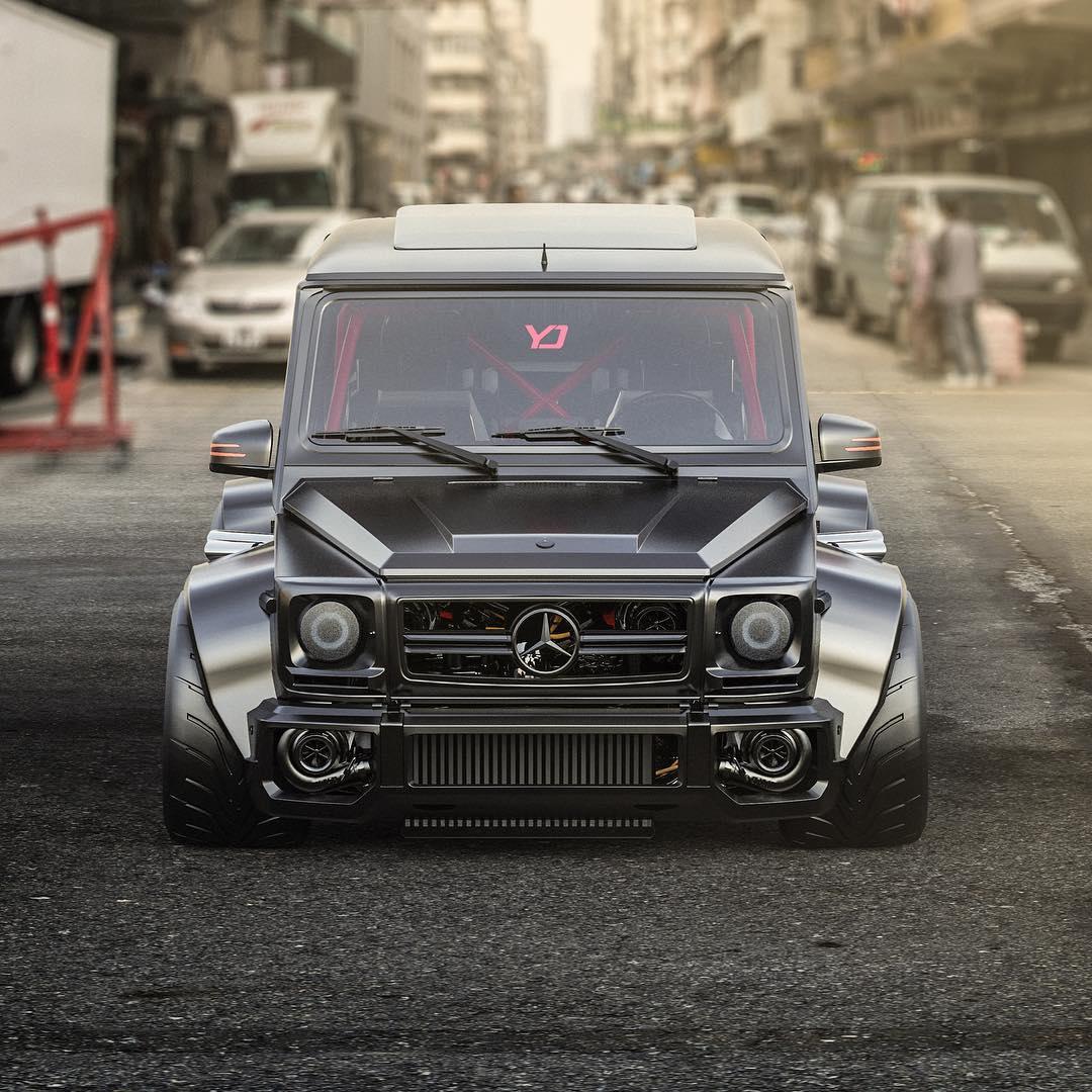 Mercedes Benz G63 Used: Slammed Mercedes-AMG G63 Rendered As Japanese Tuner Car