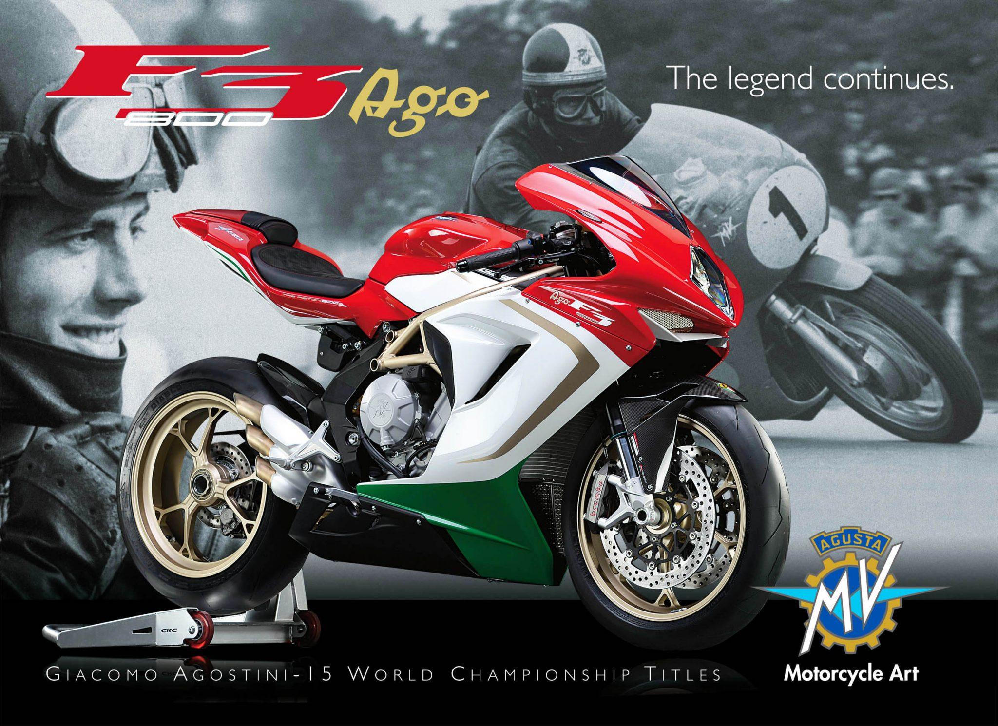 Mv Agusta F3 800 Ago Giacomo Agostini Tribute Race Bike Unveiled