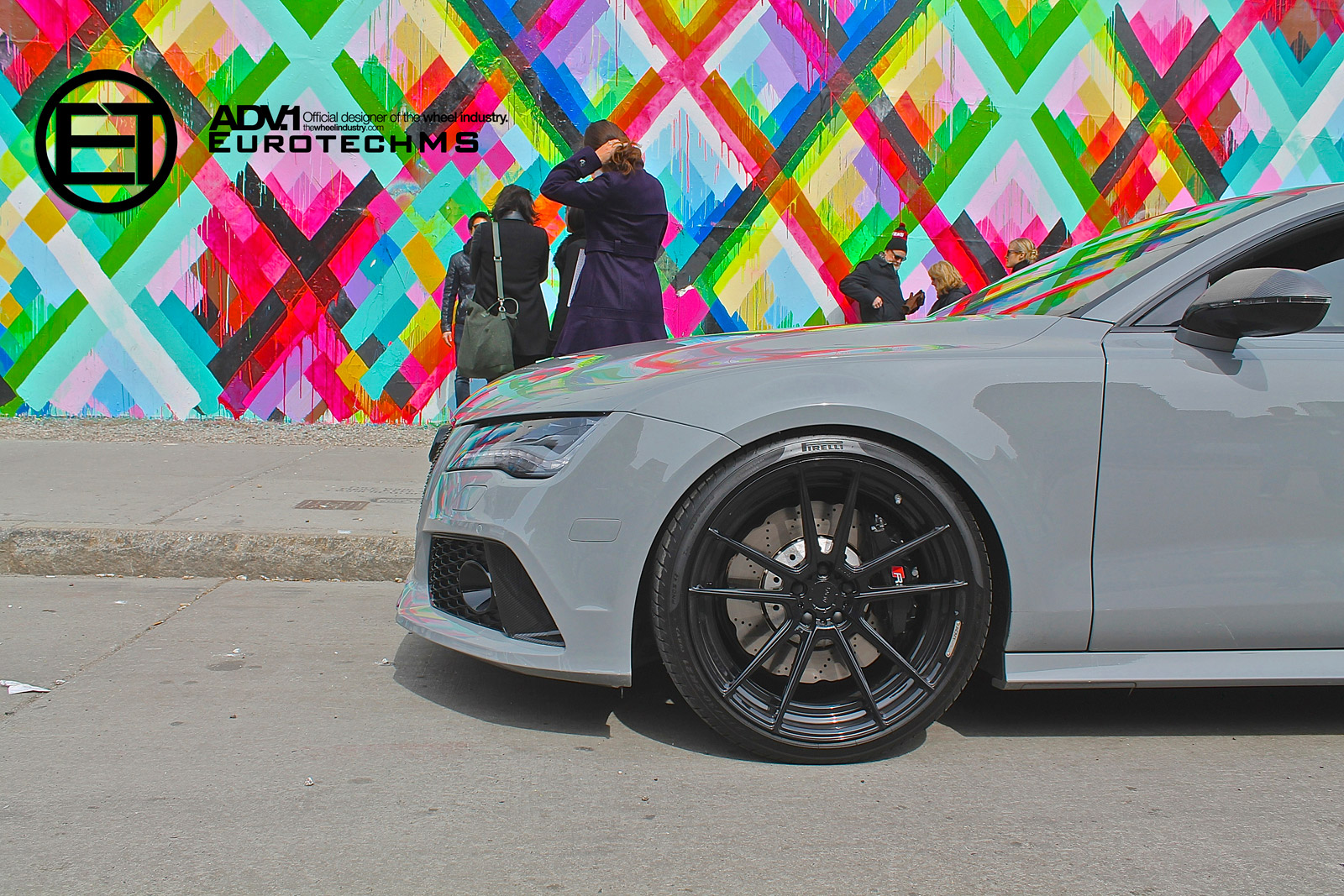 Nardo Gray Audi Rs7 Rides On Adv 1 Wheels Autoevolution