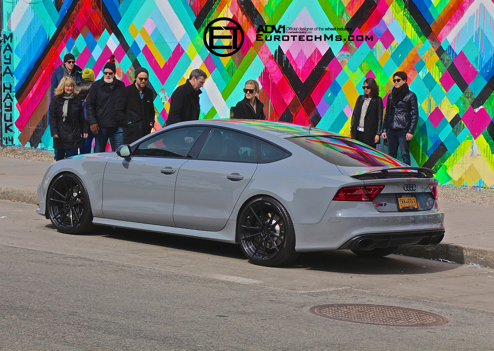 Nardo Gray Audi Rs7 Rides On Adv 1 Wheels Autoevolution