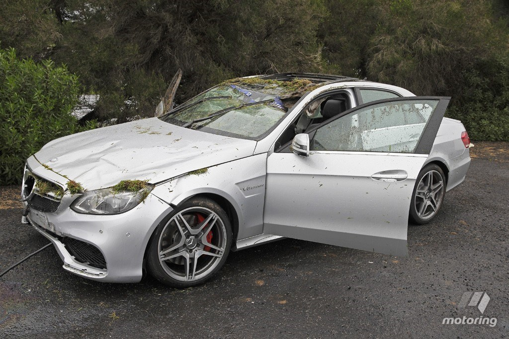 Nasty E 63 Amg Crash Leaves Journalist Driver Fine And