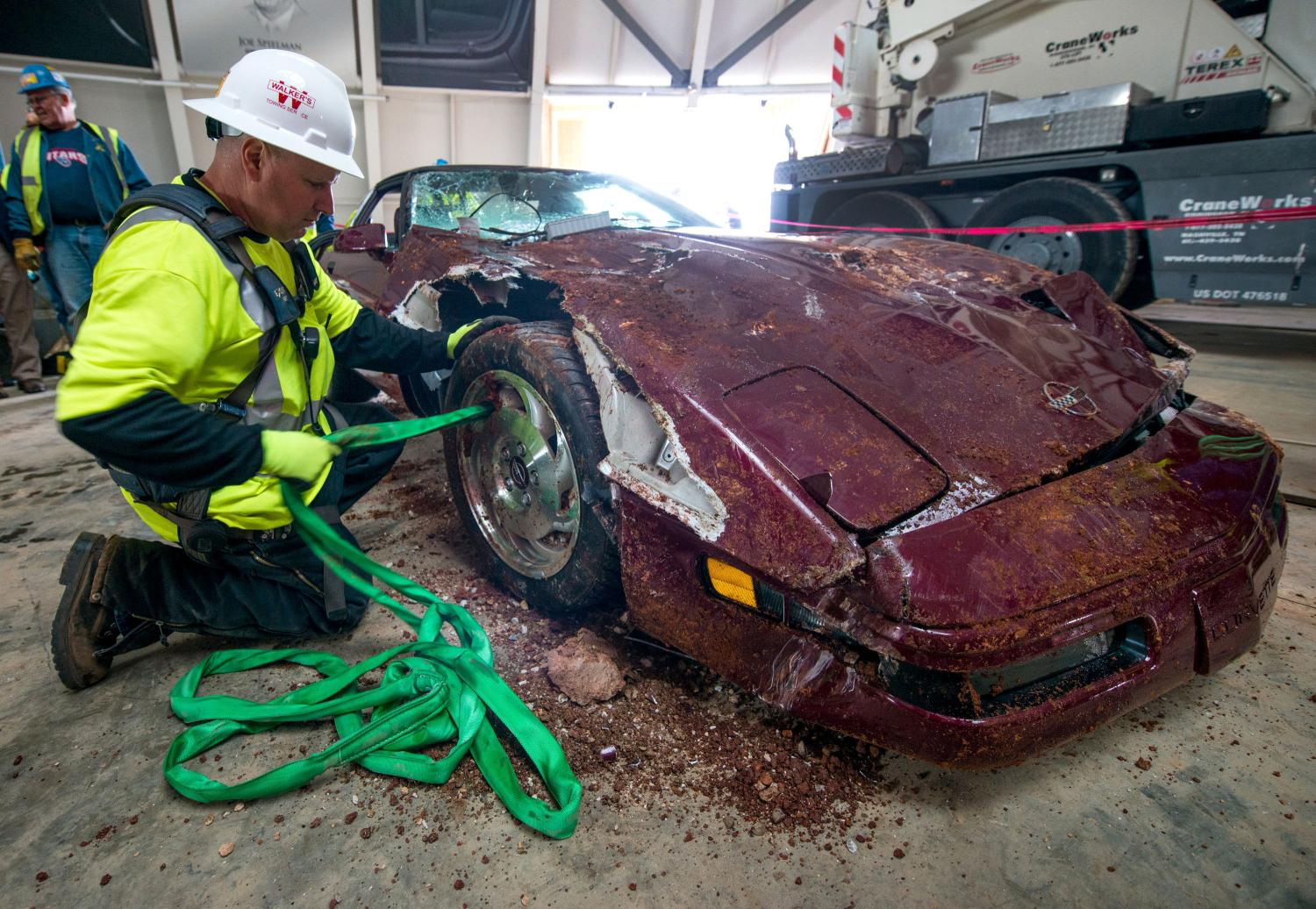 National Corvette Museum To Restore 3 Of 8 Sinkhole Vettes