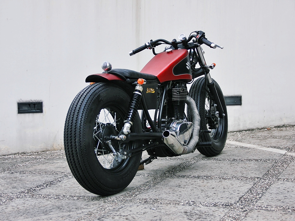 Bobber Perfection Naughty Red Suzuki Boulevard S40 From