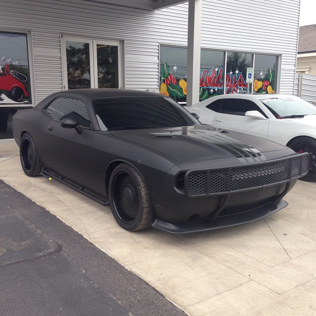 Nba Star Tim Duncan Styled This Punisher Themed Challenger