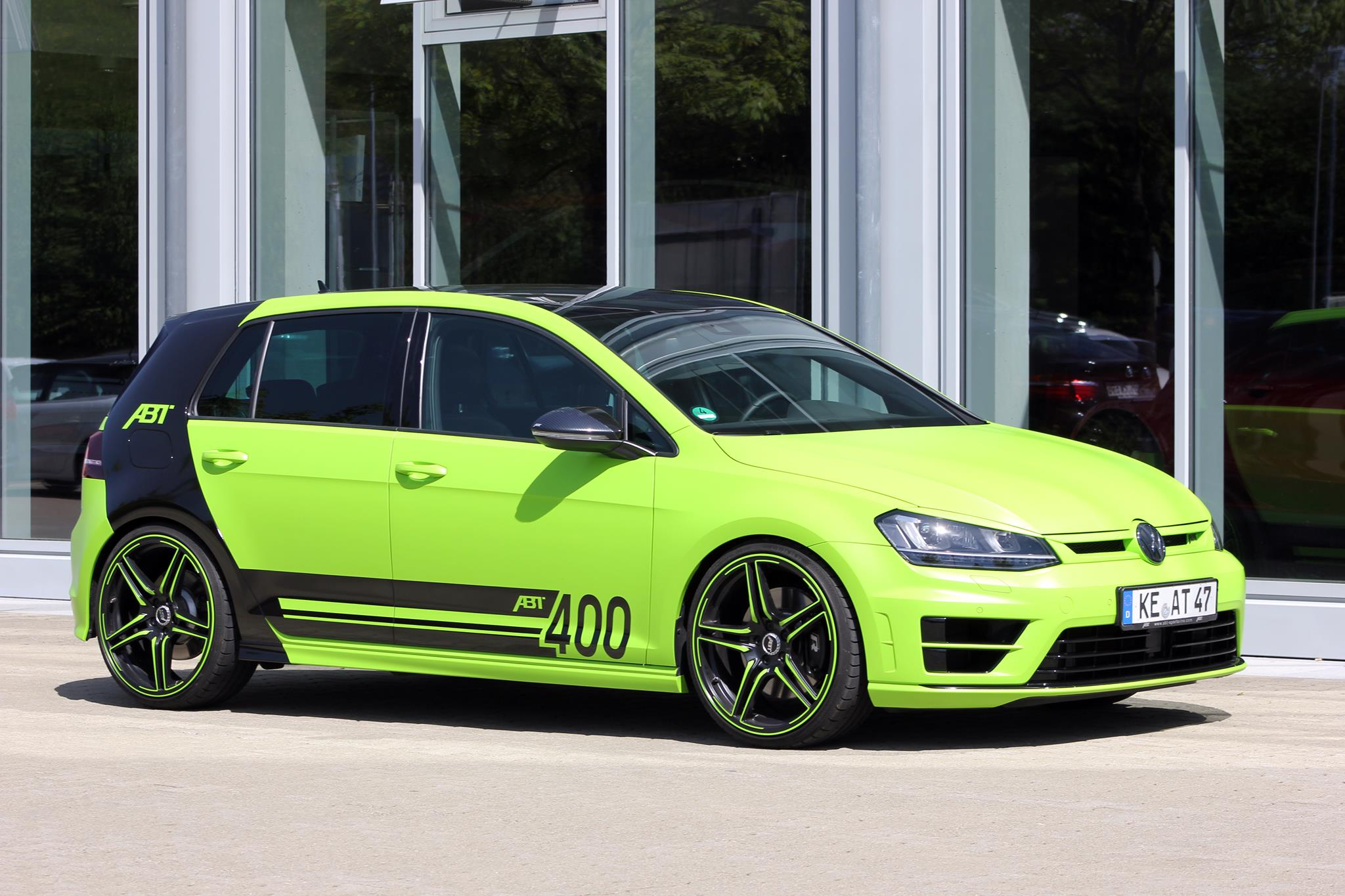 Neon Green Golf R with 400 HP from ABT Coming to Worthersee 2015 - autoevolution