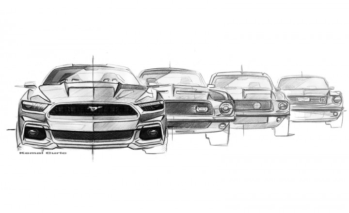 New 2015 Ford Mustang Sketches Surface - autoevolution