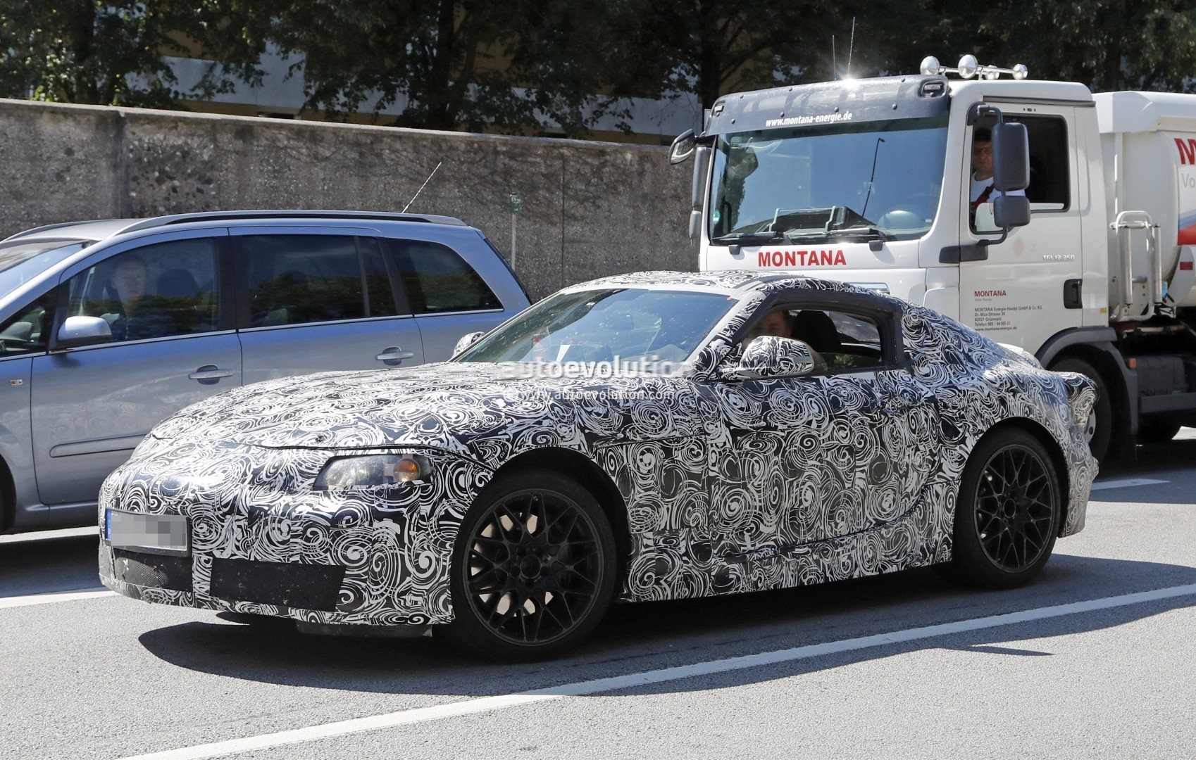 New 2018 Toyota Supra Makes Spyshot Debut Coupe Prototype