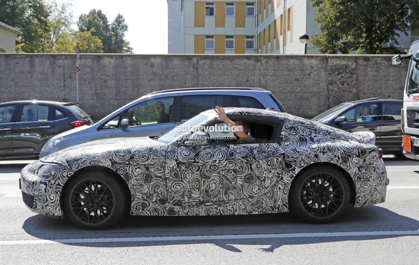 new 2018 toyota supra makes spyshot debut coupe prototype shows bmw interior autoevolution. Black Bedroom Furniture Sets. Home Design Ideas