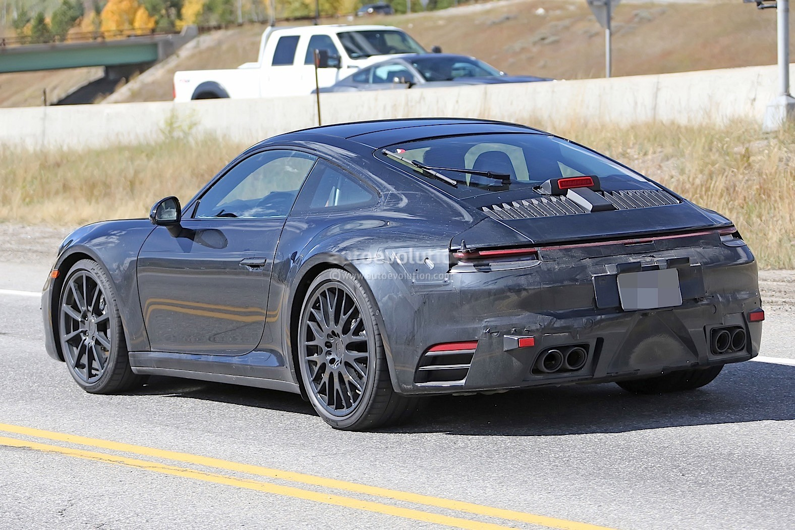 2020 Porsche 911 Carrera Cabriolet Spotted At German Gas Station