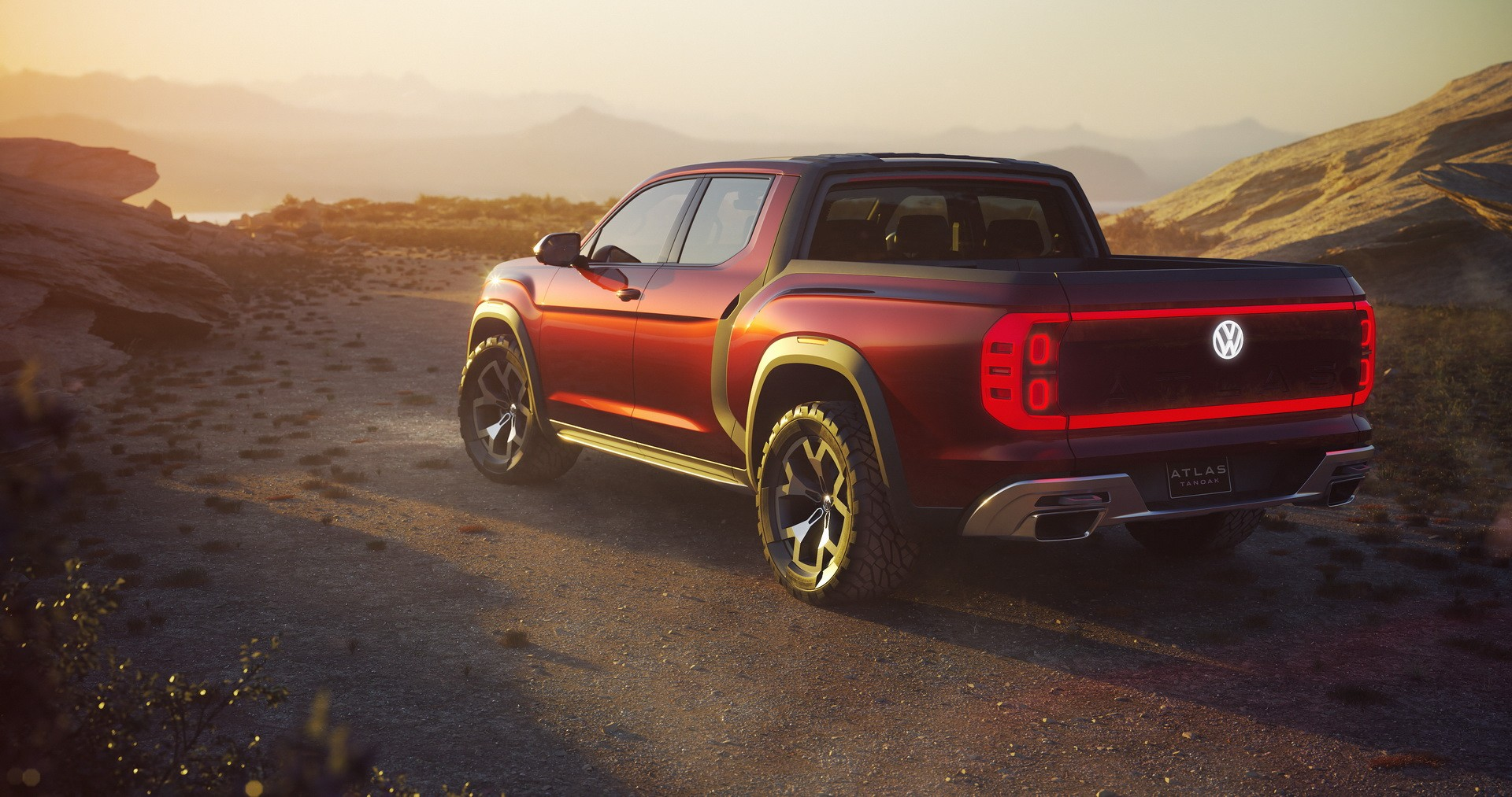New Atlas Tanoak Pickup Concept Shows Volkswagen Wants America Back - autoevolution