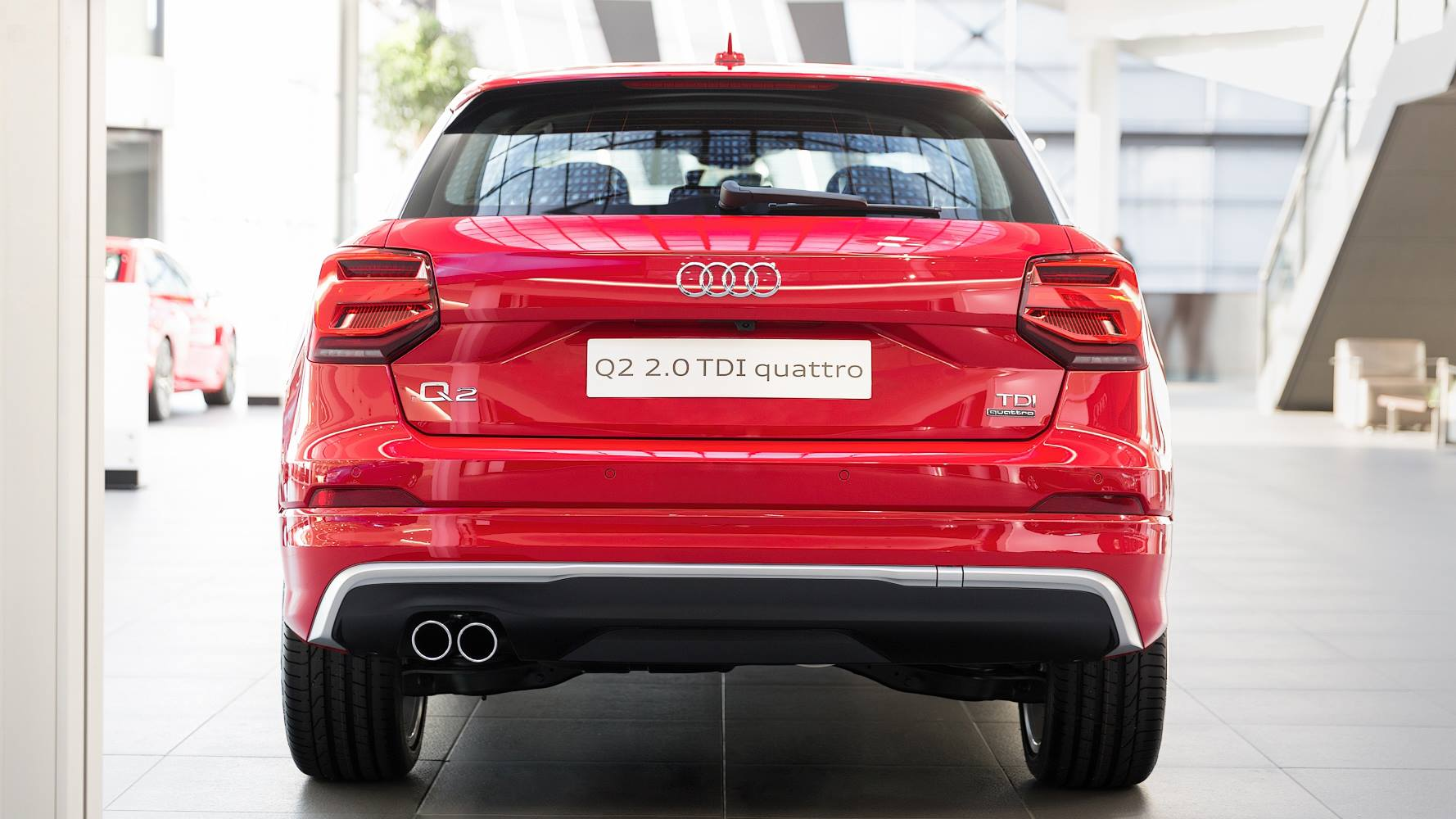 New Audi Q2 Crossover Arrives at Audi Forum Neckarsulm