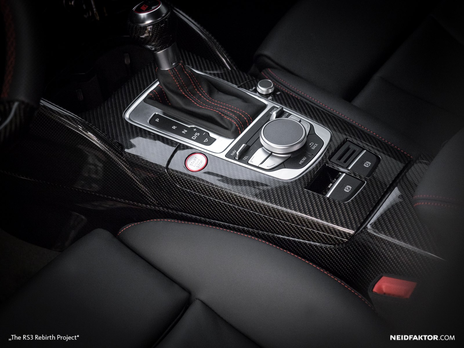 New audi rs3 gets carbon fiber and alcantara interior from for Carbon interieur