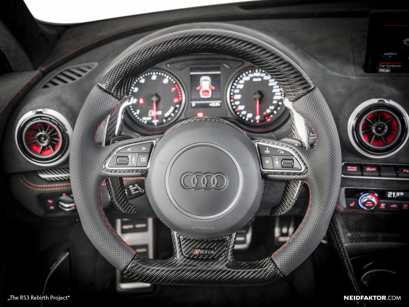 New Audi RS3 Gets Carbon Fiber and Alcantara Interior from ...