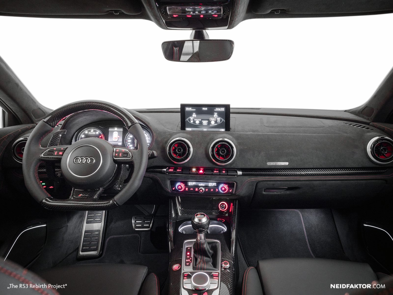 2016 Audi Q5 >> New Audi RS3 Gets Carbon Fiber and Alcantara Interior from Neidfaktor - autoevolution