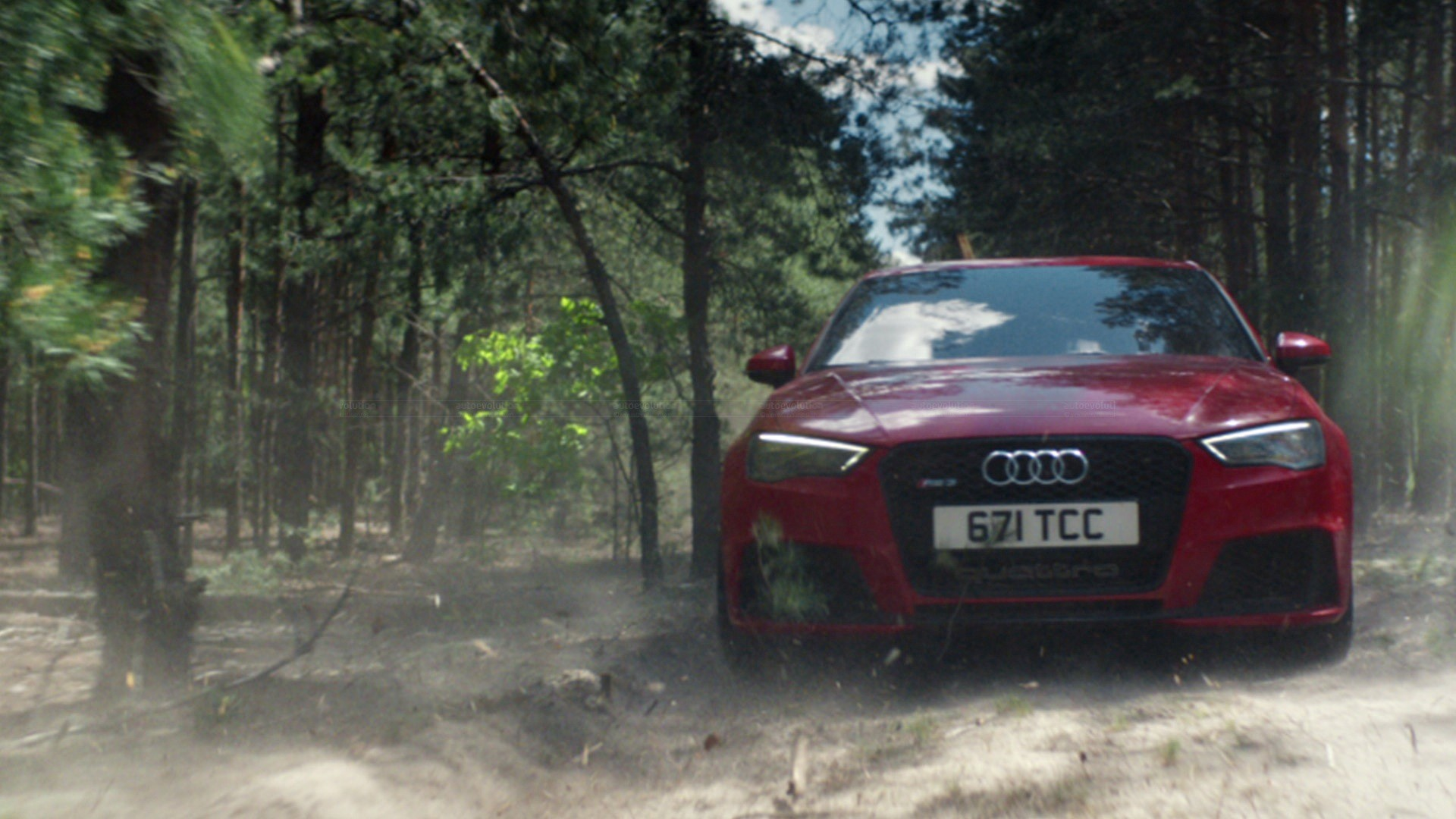 New Audi Rs3 Vs Old Quattro Rally Car The Duel In The