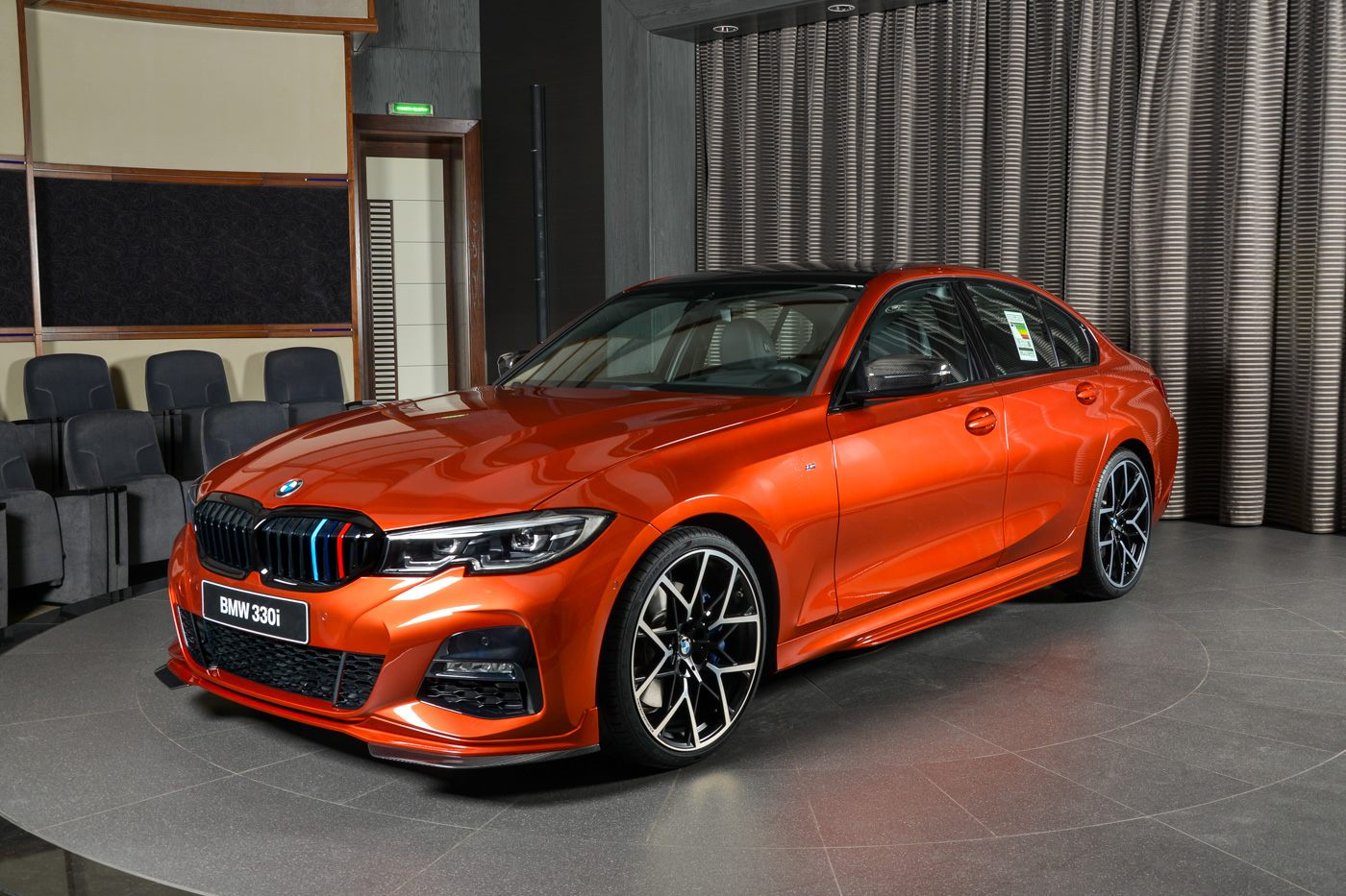 New Bmw 330i M Sport Has M Performance Parts And Sunset Orange Paint