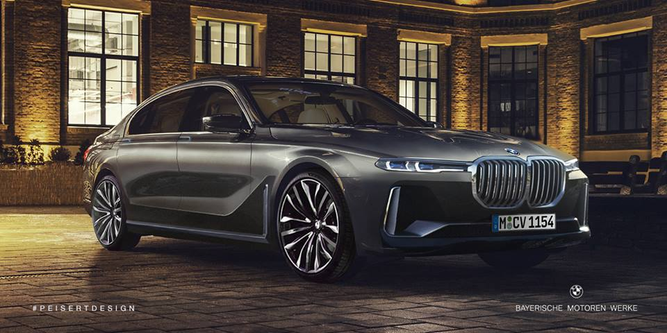 New BMW 7 Series Rendered With X7 IPerformance Concept Details