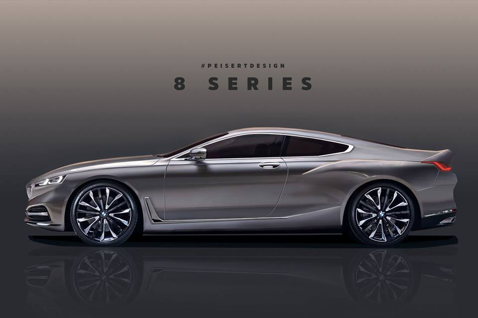 New BMW 8 Series Rendered Based on Official Teaser, 2019 ...
