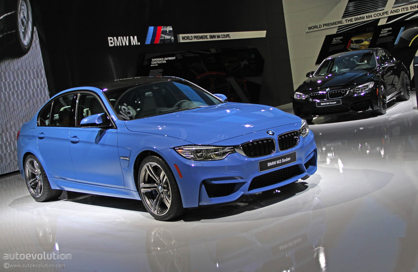 New Bmw M3 Is Blue All Over In Detroit Live Photos