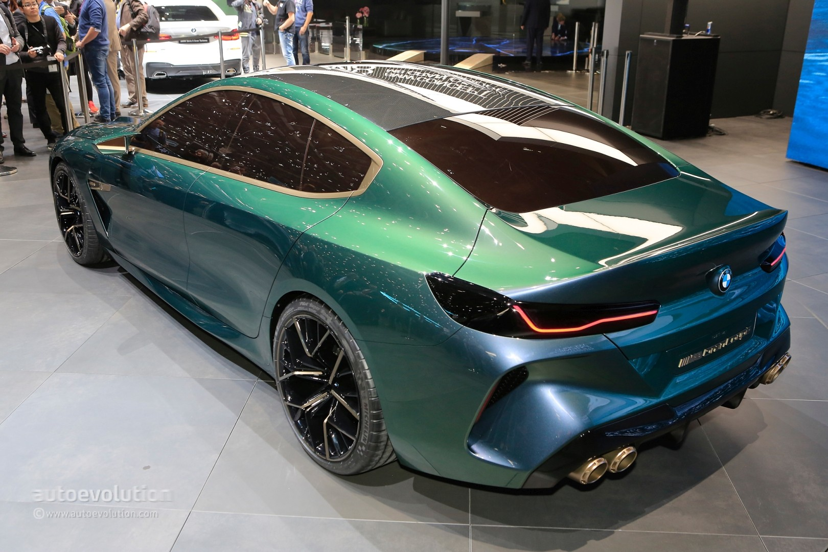 new bmw m8 gran coupe previewed by geneva concept with stunning looks autoevolution. Black Bedroom Furniture Sets. Home Design Ideas