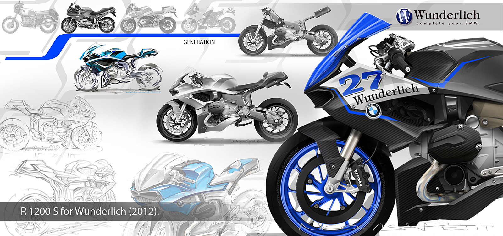 New Bmw R1200s Custom Sketches Looking Great Autoevolution