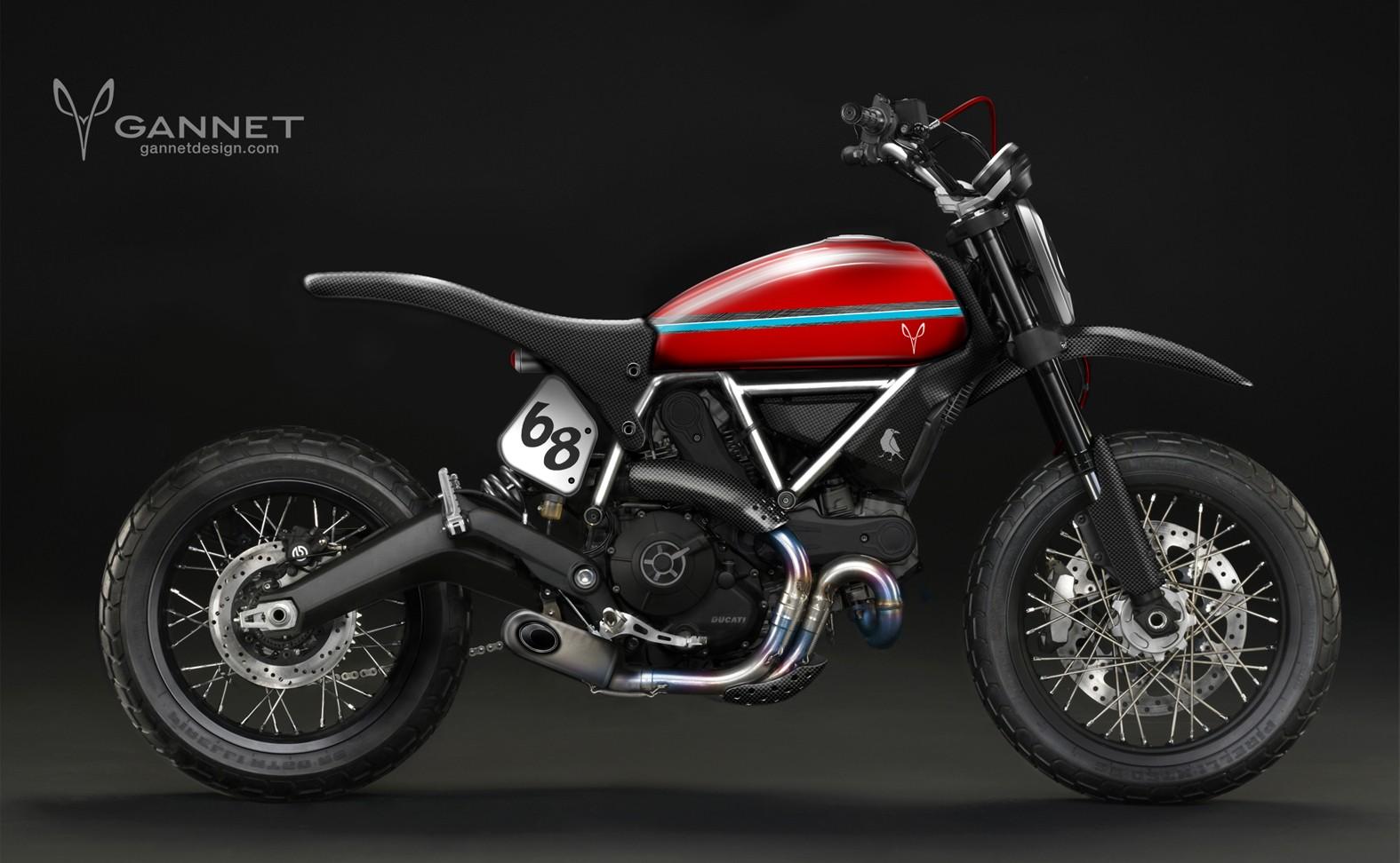 New Ducati Scrambler Concepts Flow In From Gannet Design