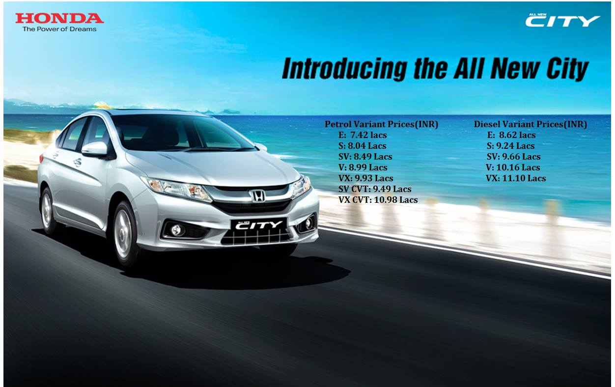 new car launches of hondaNew Honda City Launched in India  autoevolution