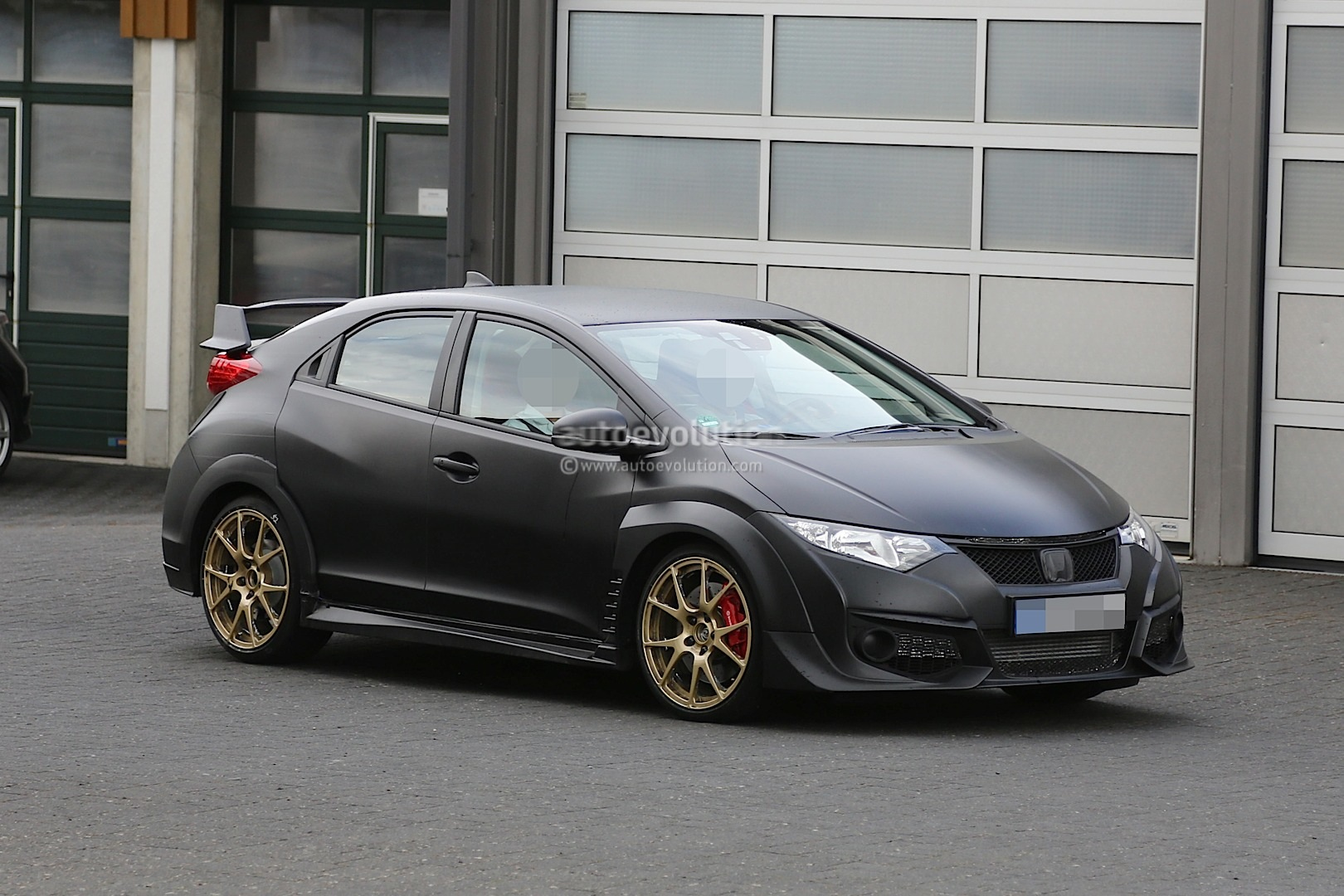 New Honda Civic Type R Spied Testing Against Mercedes A45