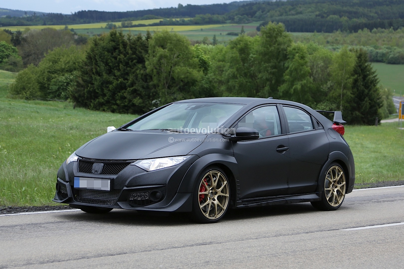 New Honda Civic Type R Spied Testing Against Mercedes A45 ...