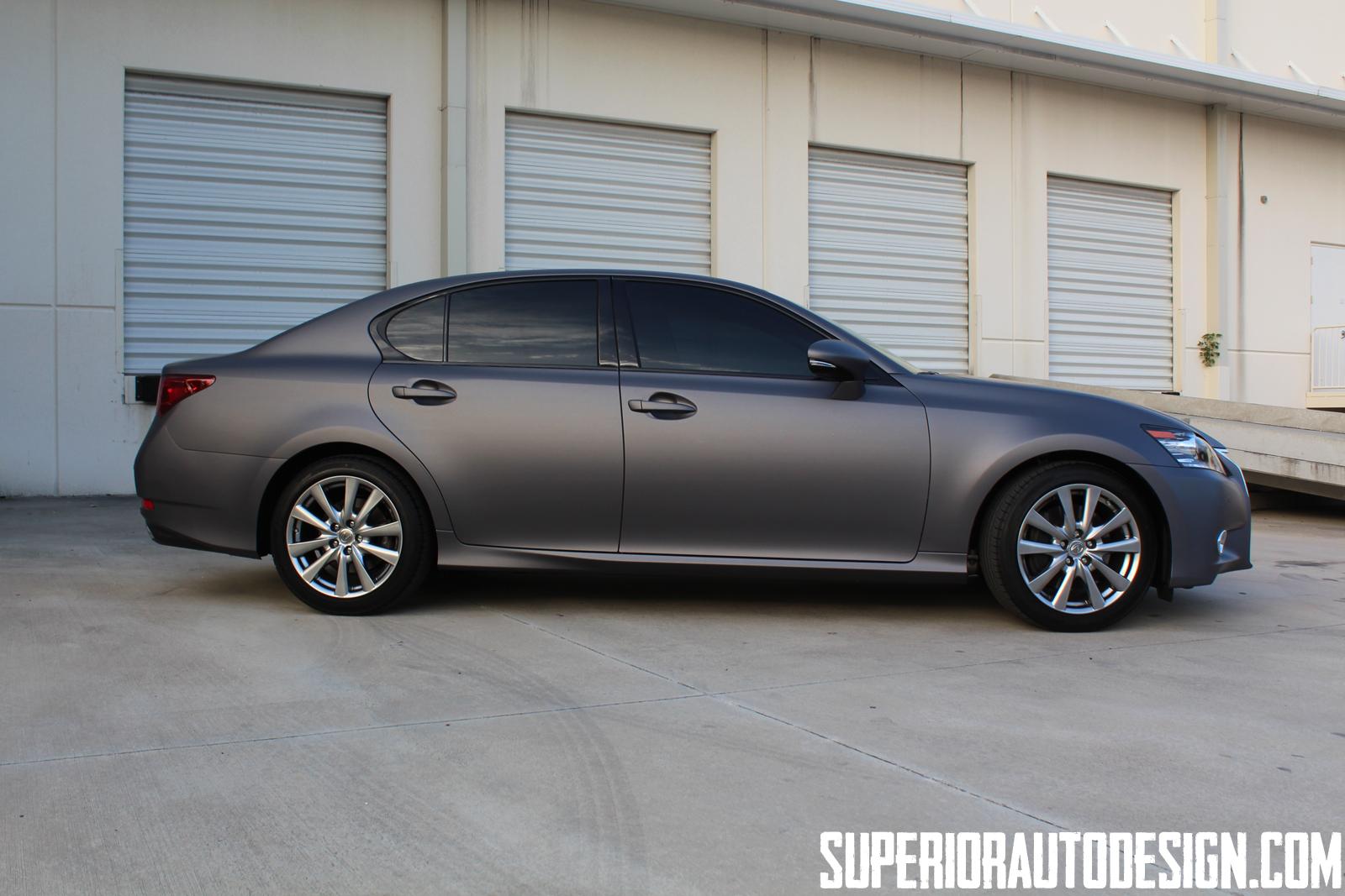 Solar Powered Camper >> New Lexus GS 350 Gets Matte Dark Grey Wrap - autoevolution