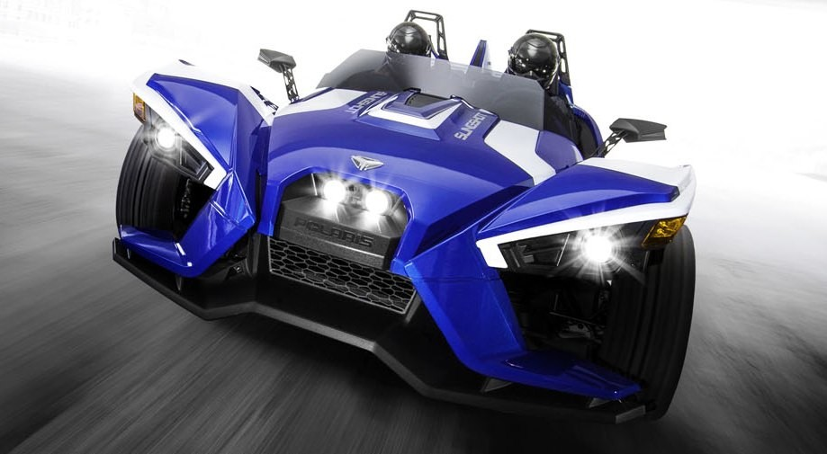 Polaris Outlaw 50 >> New Limited Edition Polaris Slingshot Shows Off Blue Fire ...