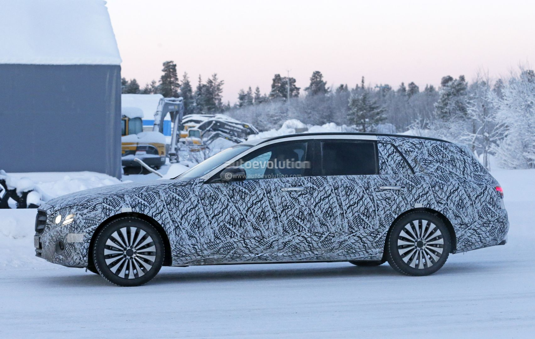 New Mercedes E Class Wagon Spied All Terrain Jacked Up