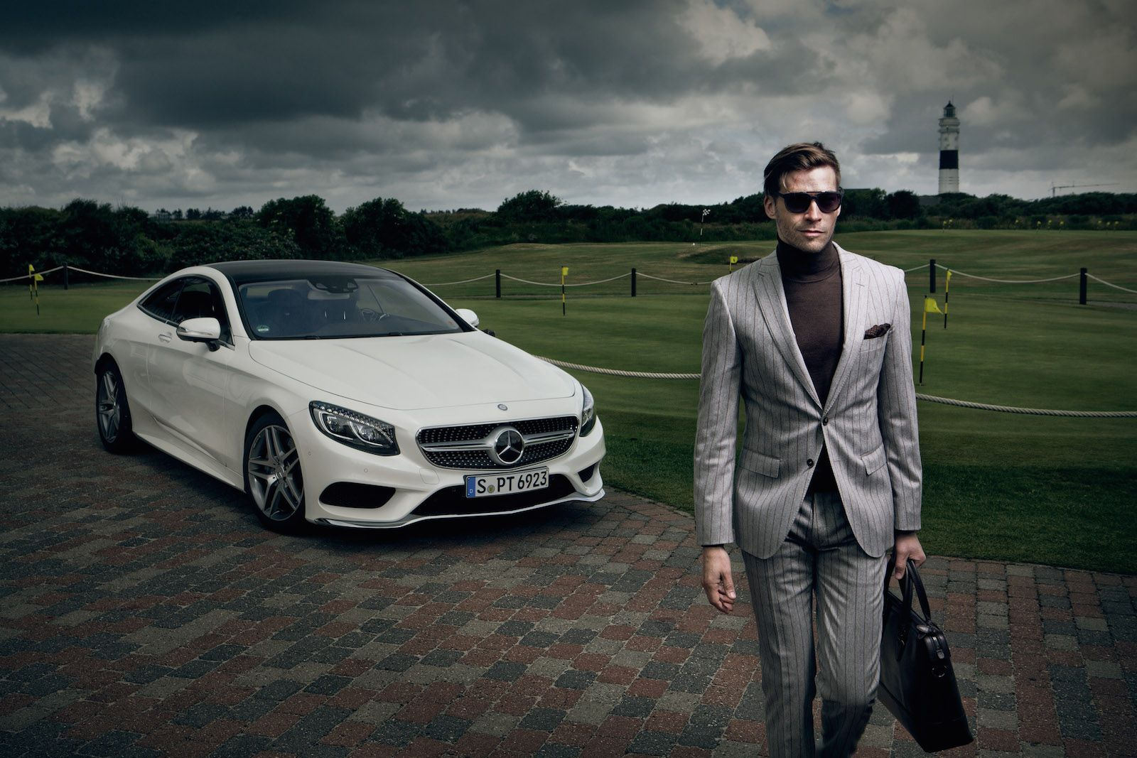 new mercedes s 500 coupe stars in hugo boss photo shoot. Black Bedroom Furniture Sets. Home Design Ideas