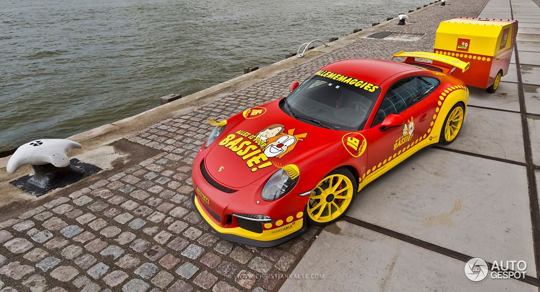 New Porsche 911 Gt3 Turned Into Clown Car With Trailer By