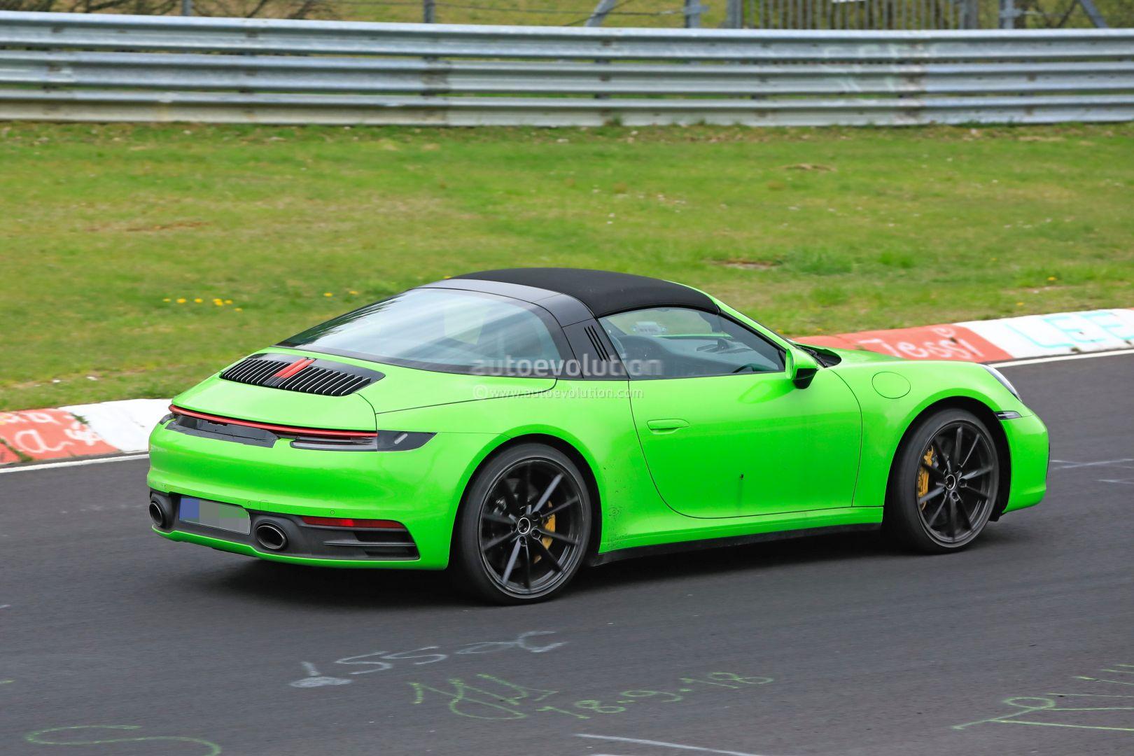 New Porsche 911 Targa 992 Spotted On Nurburgring Turbo