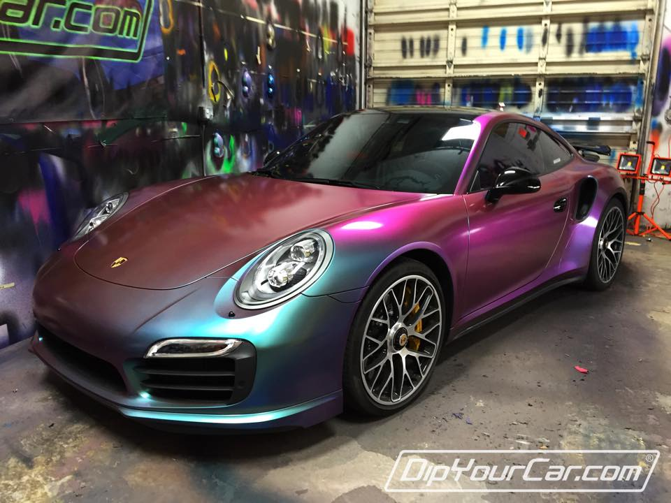 New Porsche 911 Turbo S Gets Sprayed In Chameleon Plasti Dip Autoevolution