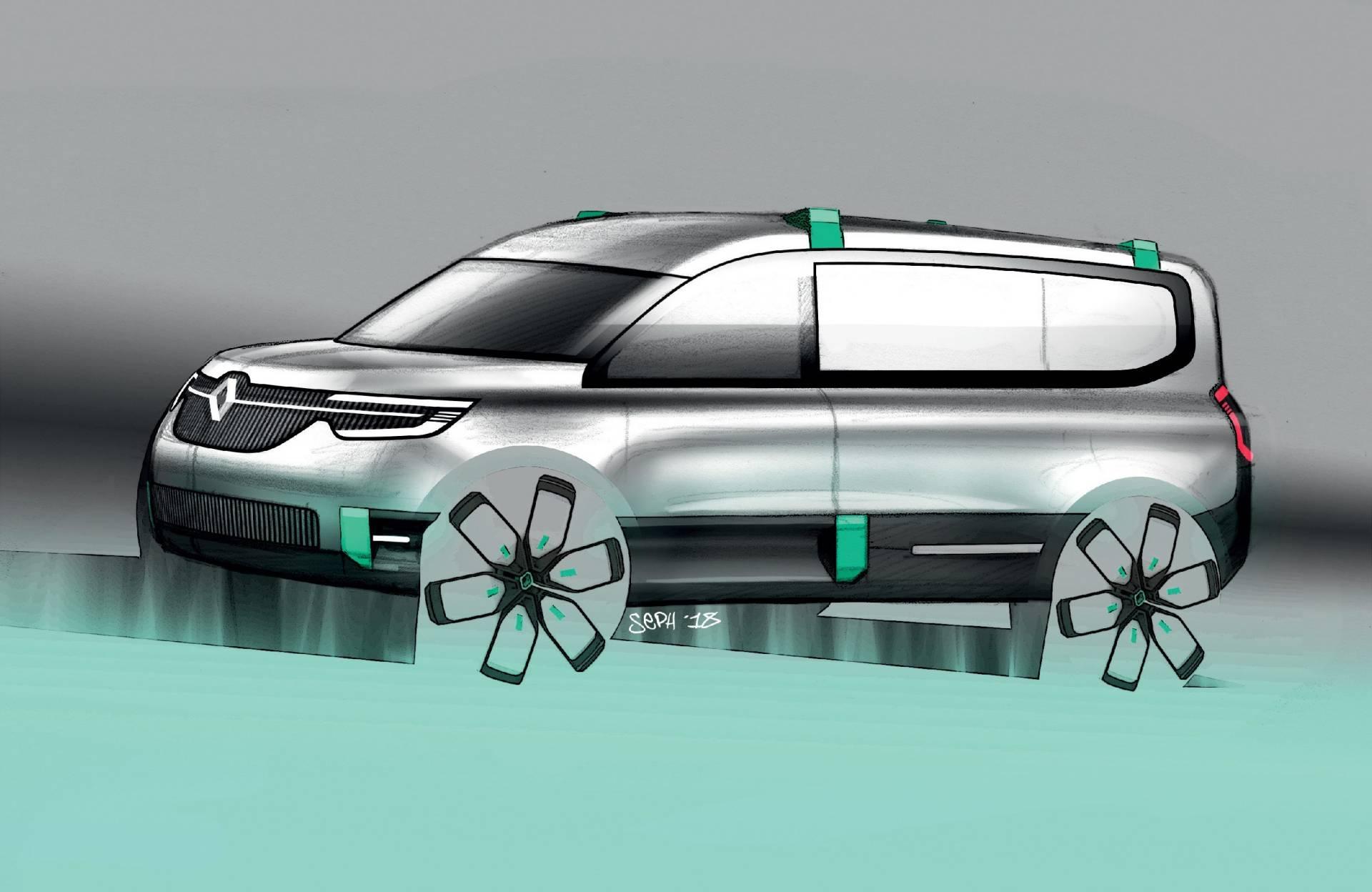 New Renault Kangoo Z E Concept Previews 2020 Production