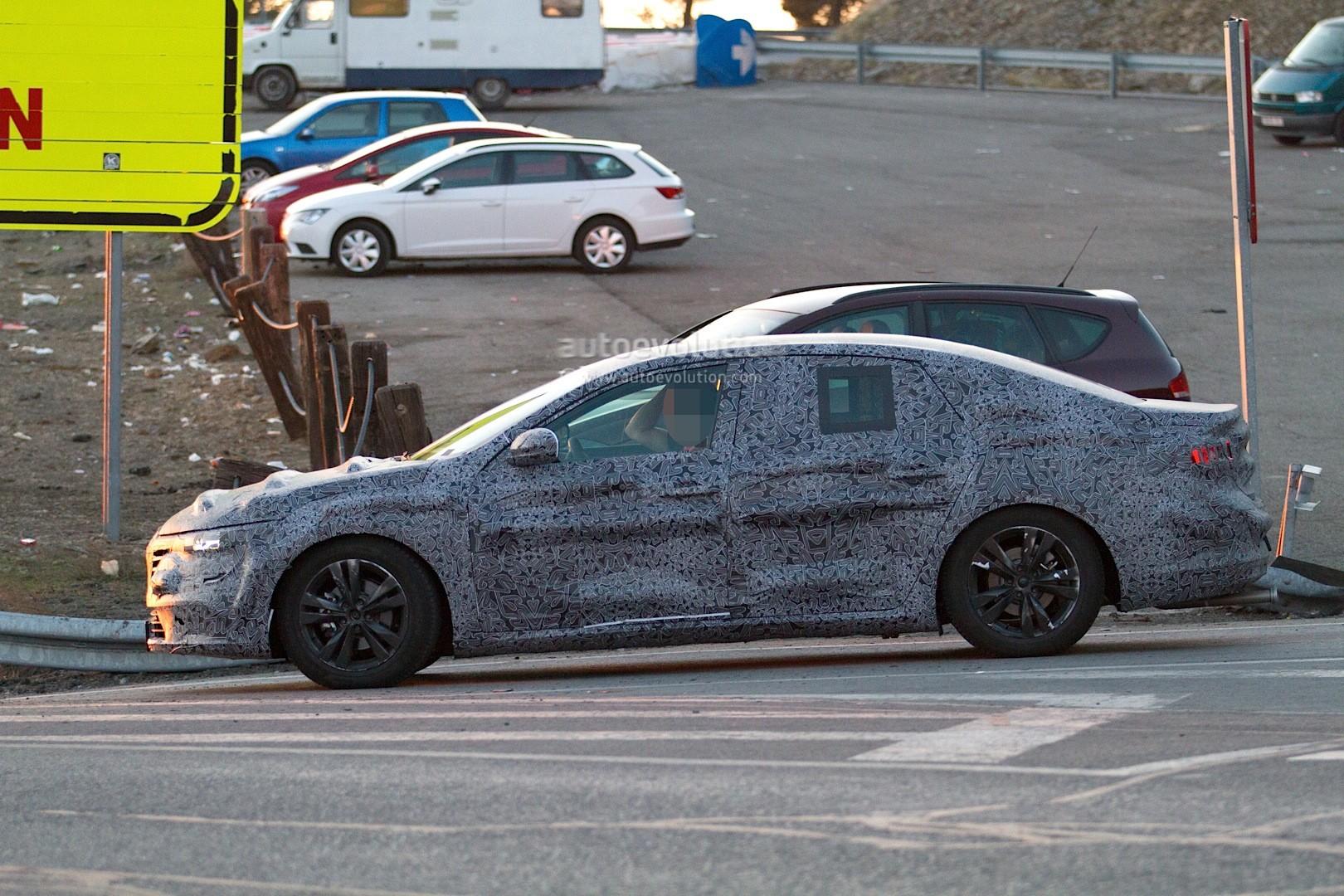 new renault laguna flagship sedan spied again could debut later in 2015 autoevolution. Black Bedroom Furniture Sets. Home Design Ideas