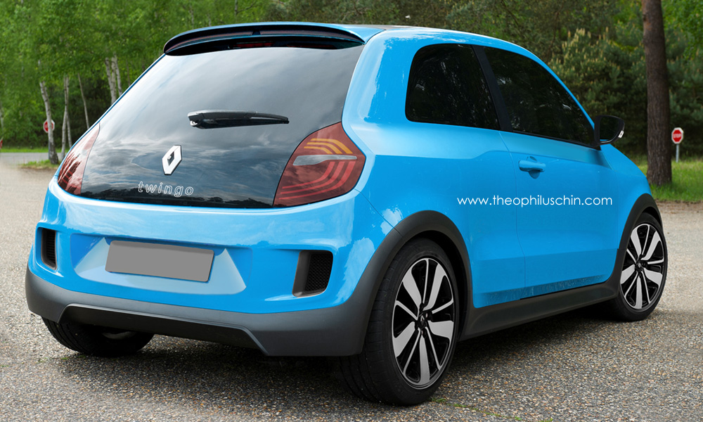 new renault twingo rendered but could it be the 5 reborn autoevolution. Black Bedroom Furniture Sets. Home Design Ideas