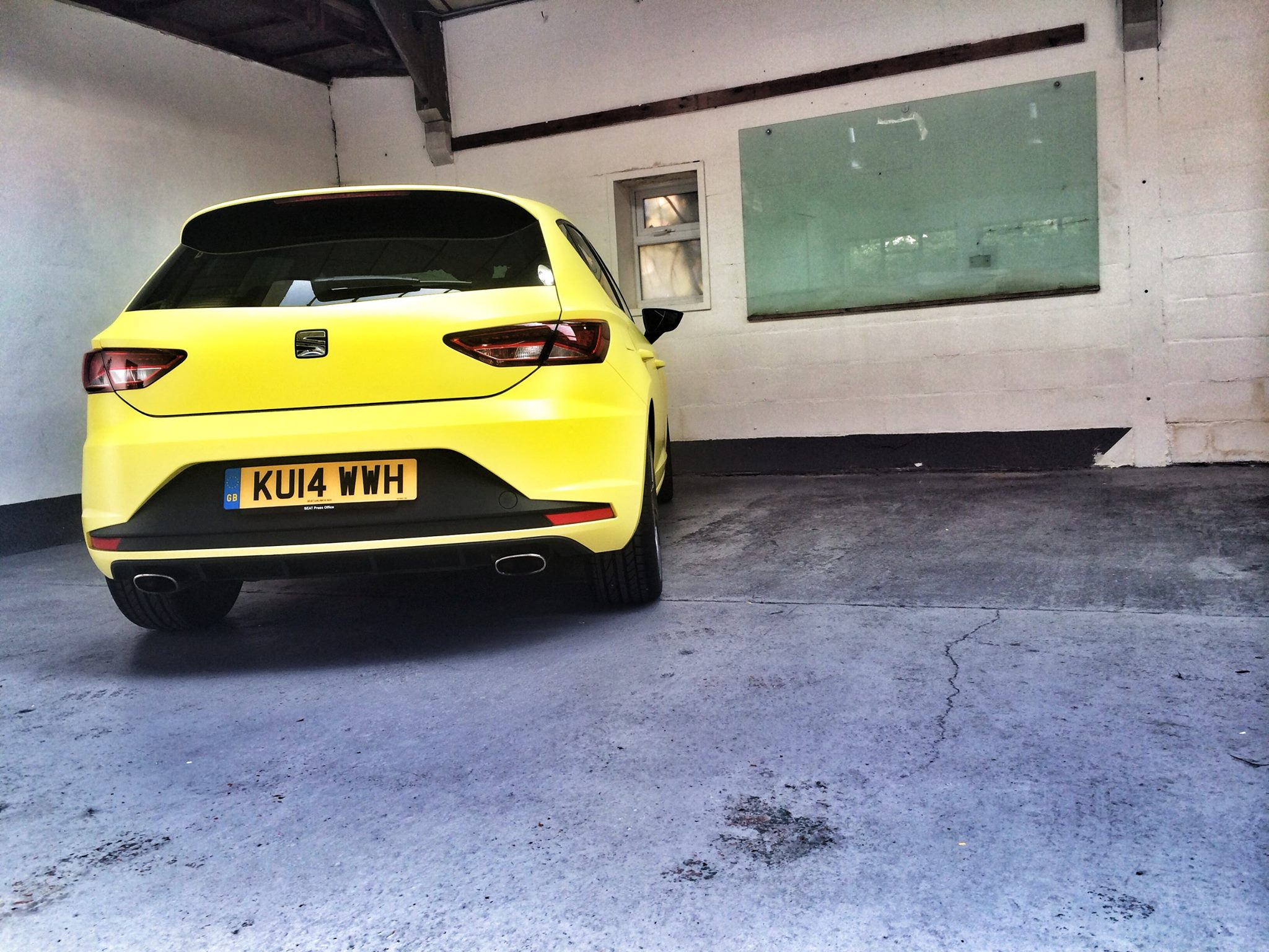 New Seat Leon Cupra Wrapped In Matte Neon Yellow And