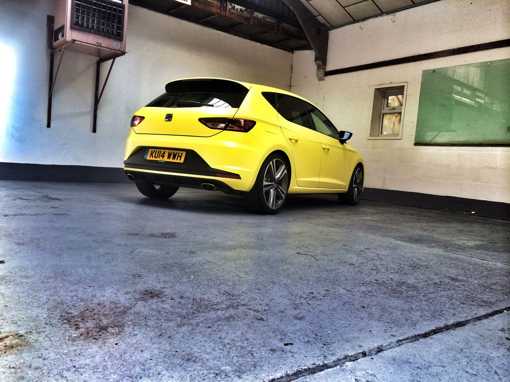 New SEAT Leon Cupra Wrapped in Matte Neon Yellow and ...
