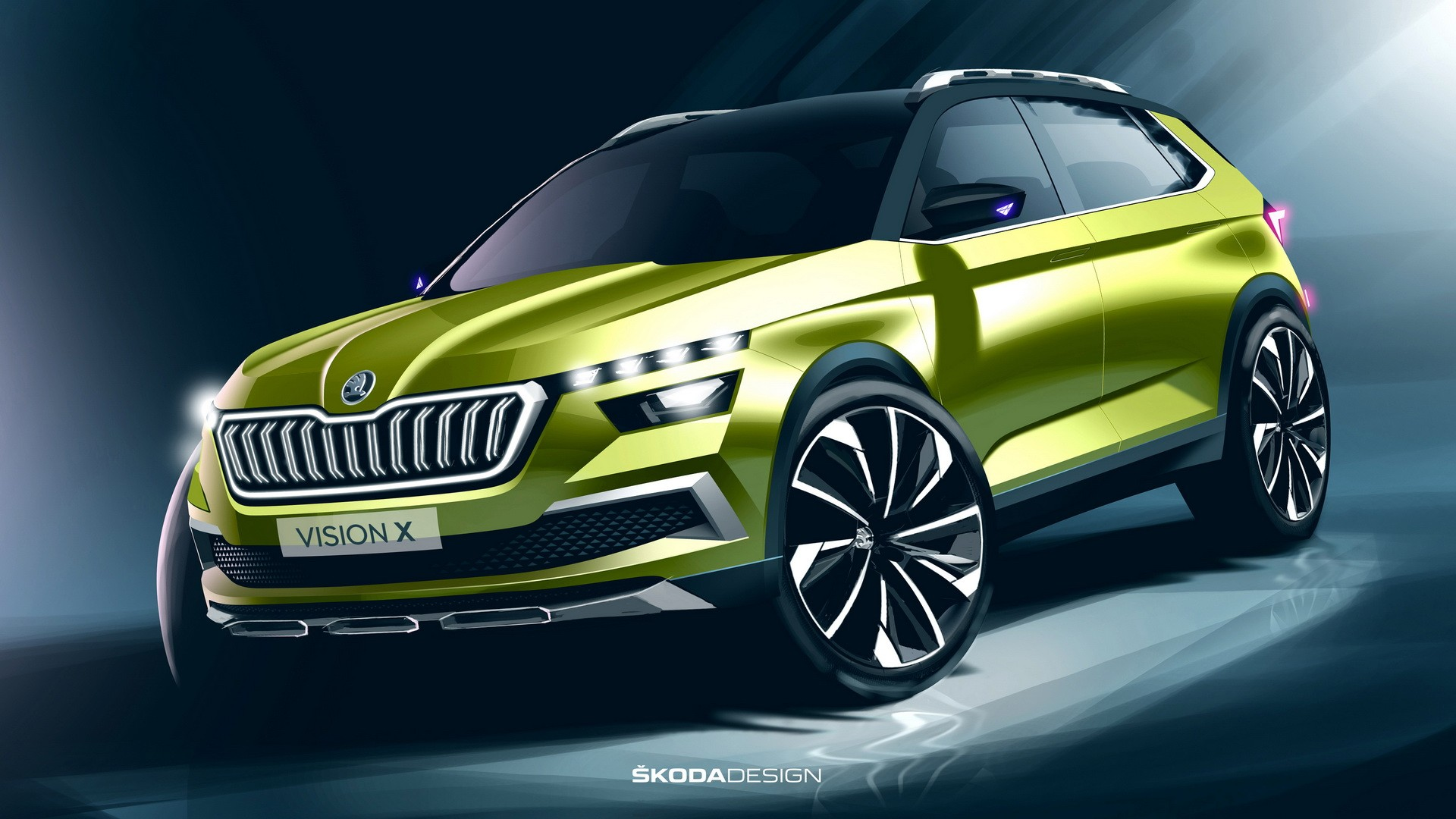new skoda vision x small suv will debut at 2019 geneva motor show autoevolution. Black Bedroom Furniture Sets. Home Design Ideas