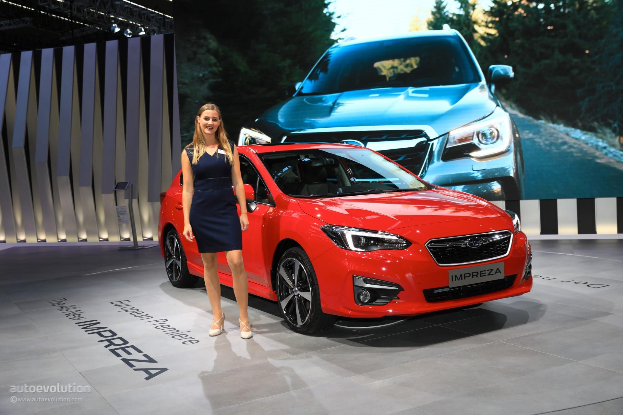 2018 subaru new model. fine 2018 2018 subaru impreza live at 2017 frankfurt motor show european model  on subaru new model