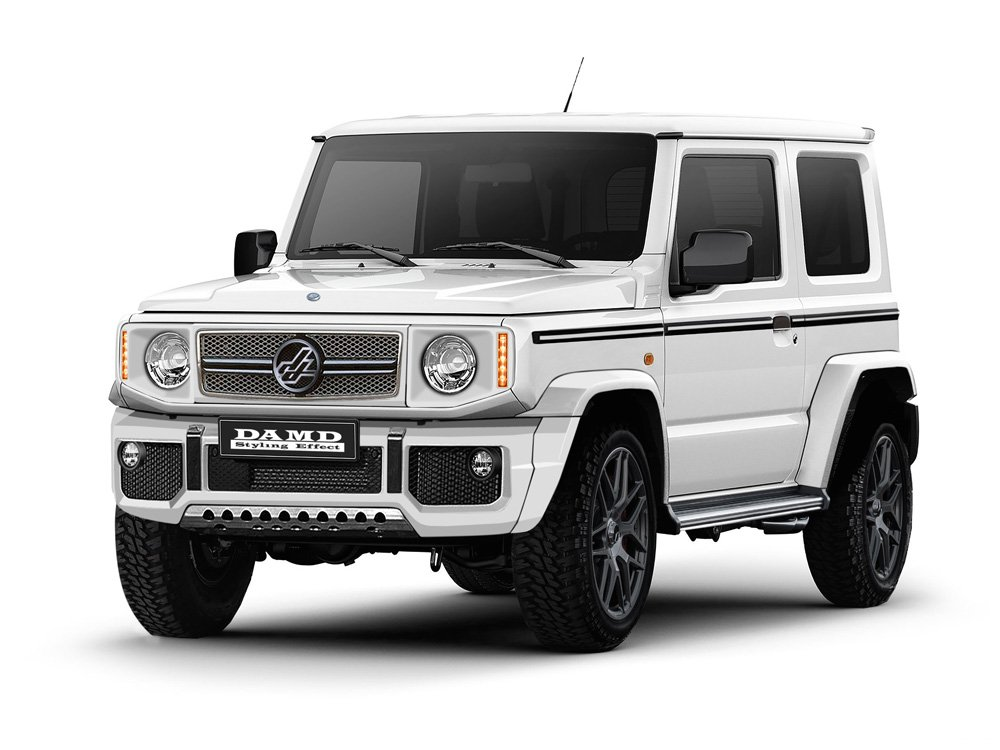 new suzuki jimny impersonates g class defender in japan. Black Bedroom Furniture Sets. Home Design Ideas