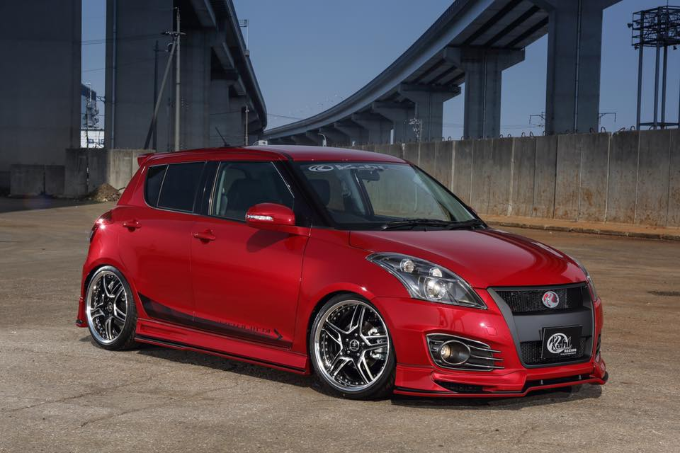 New Suzuki Swift Sport Gets Quad Exhaust Tuning from Kuhl