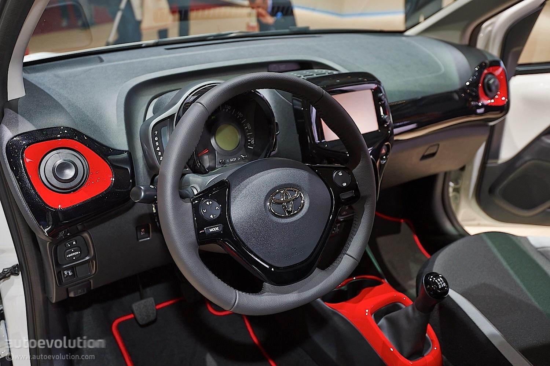 New toyota aygo posing from geneva 2014 live photos autoevolution - Toyota aygo interior ...