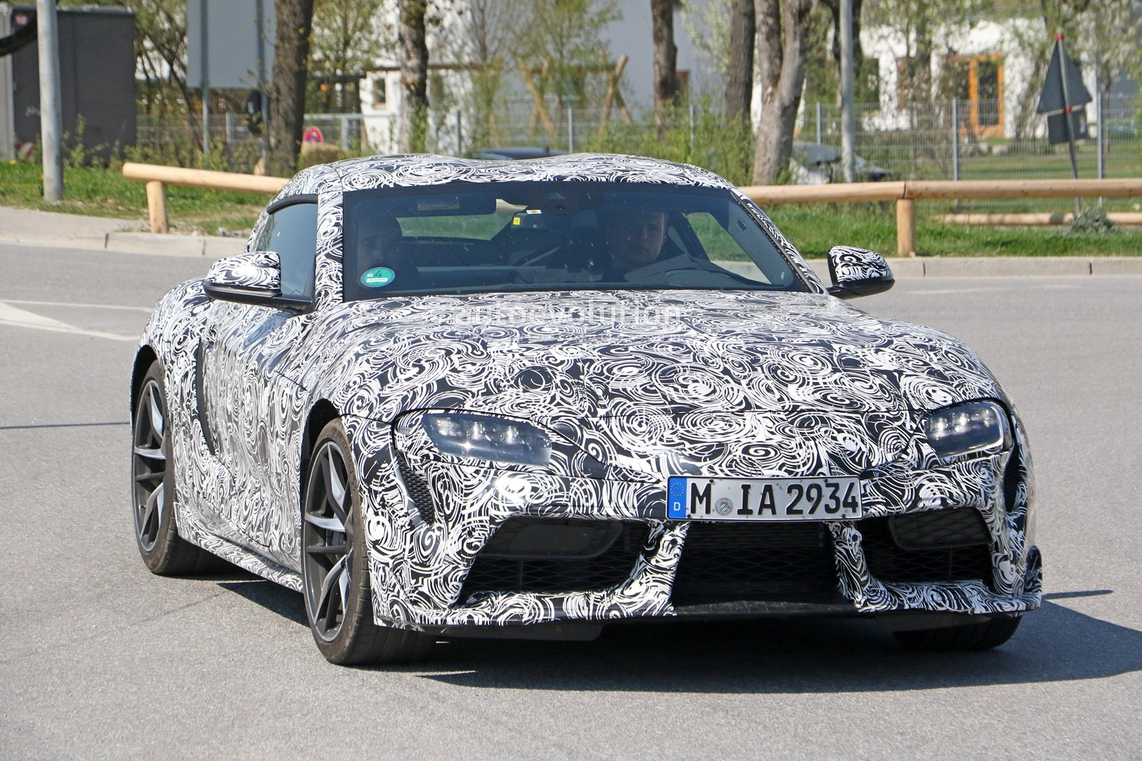 New Toyota Supra Spied Testing With Production Wheels Autoevolution