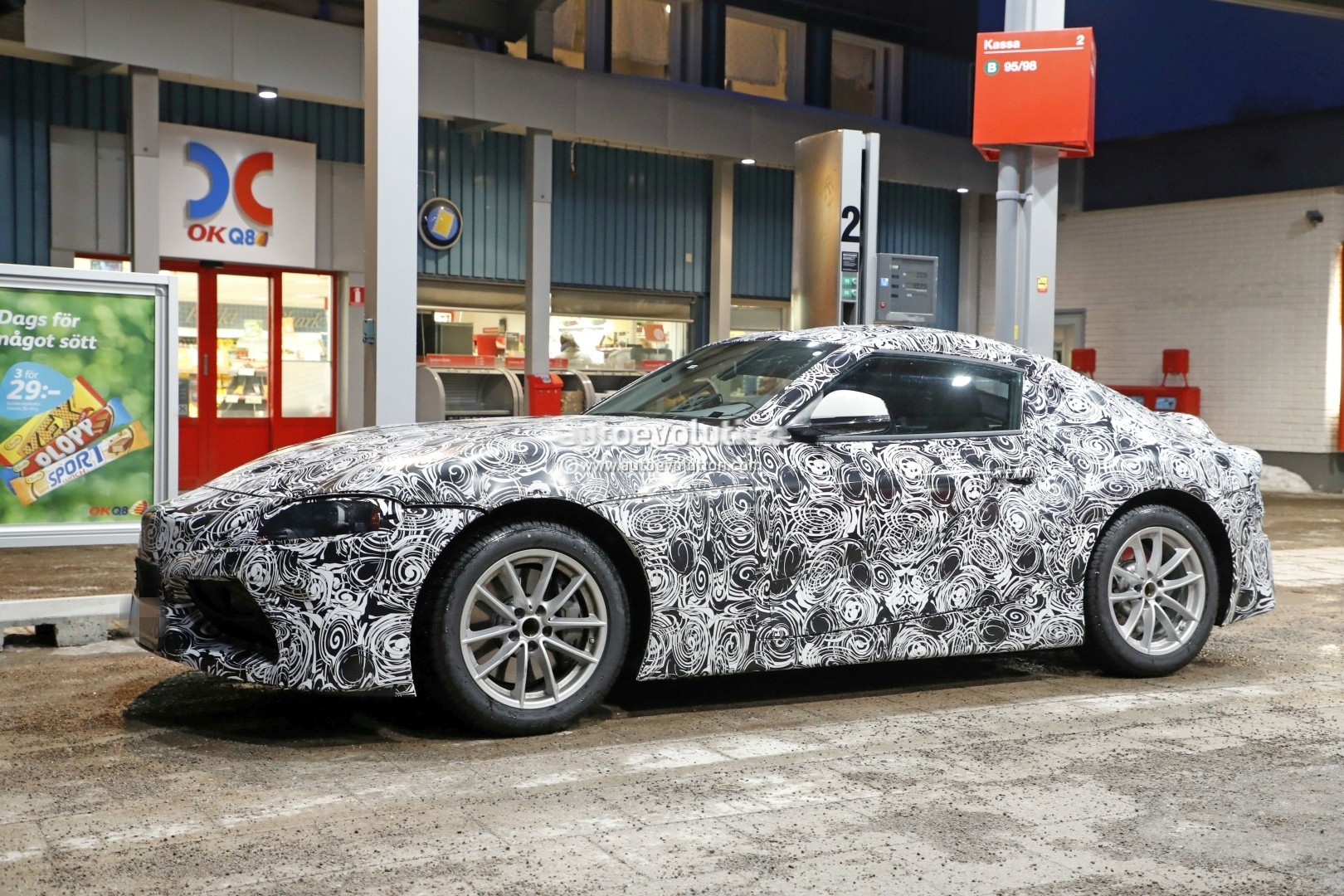 New Toyota Supra Spied Up Close While Visiting A Gas