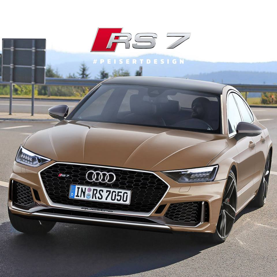 next audi rs7 rendered based on spyshots looks like a sloping roofline rocket autoevolution. Black Bedroom Furniture Sets. Home Design Ideas